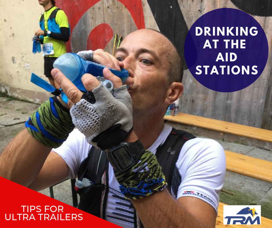 DRINKING AT THE REFRESHMENT POINTS OF A RACE, WHAT IS BEST